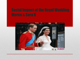Social Impact of the Royal Wedding