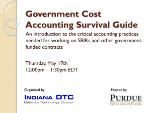 Government Cost Accounting Survival Guide
