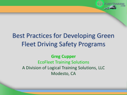 Eco Training Fleet - Stanislaus Green Team