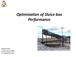 Optimization of Sluice box Performance