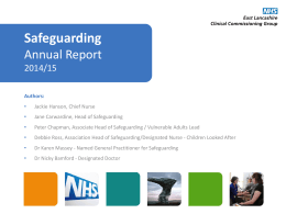 To view the Safeguarding Report Presentation click here