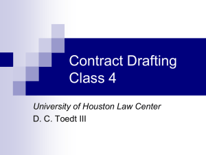 Slides for Contract Drafting Class 4 2012-01-26