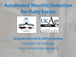 Automated Mastitis Detection for Dairy Farms - Amanda
