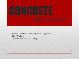 CONCRETE - Stevens Institute of Technology