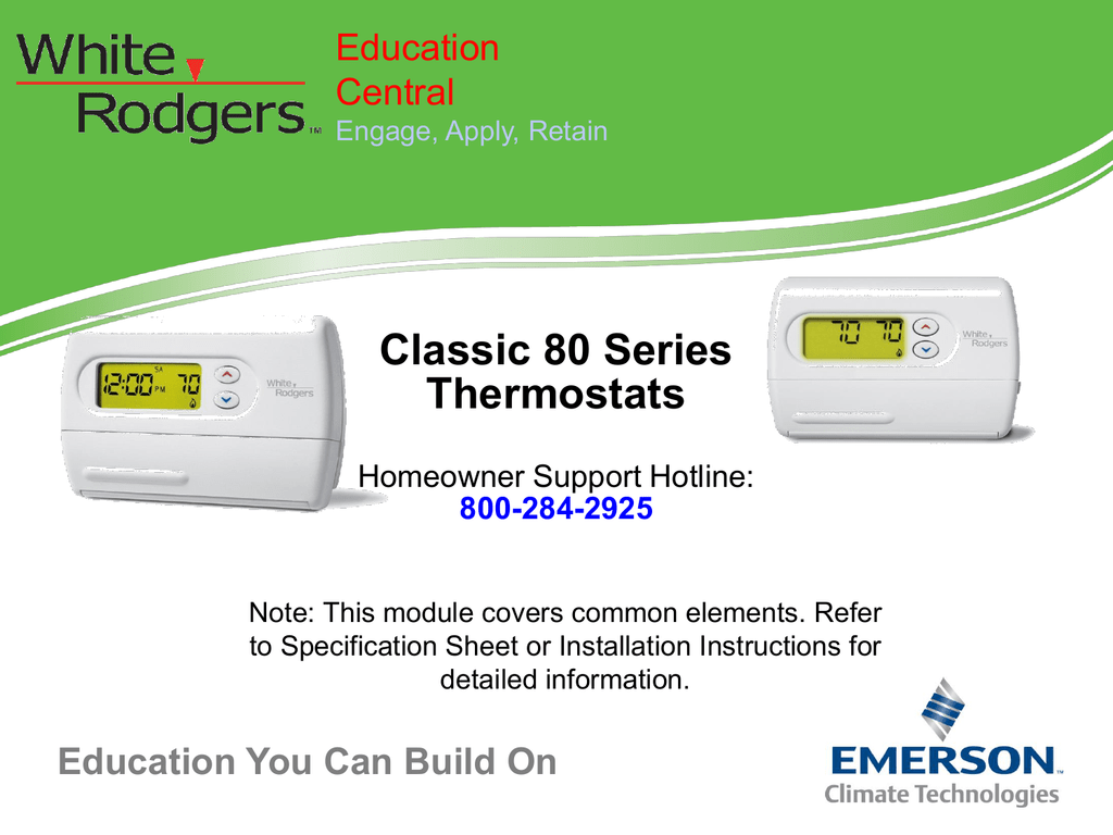 Heat Pumps White Rodgers Thermostat Wiring Diagram 1f80 261