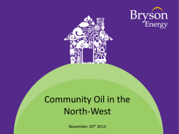 Community Oil in the North