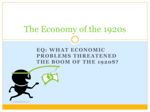 The Economy of the 1920s