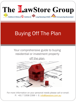 ebook-Buying Off The Plan