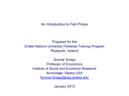 Lecture 2 - United Nations University Fisheries Training Programme