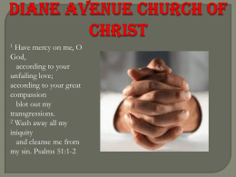 Divine Restoration - diane avenue church of christ