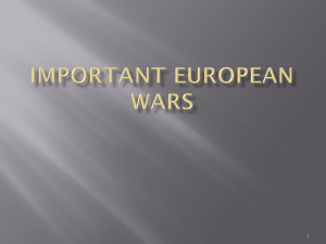 Important European Wars