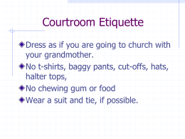 """Courtroom Etiquette""—PowerPoint Presentation"