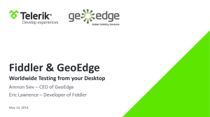 About GeoEdge - Fiddler Book
