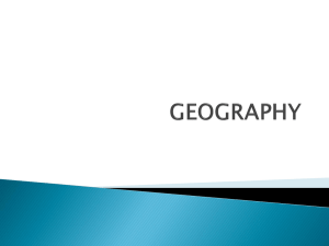 Geography Maps and Terms