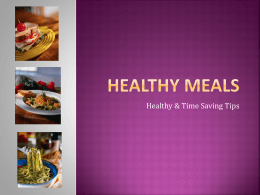 Healthy Meals - Texas Tech University Departments