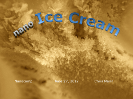 ppt – Nano Ice Cream