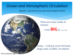 Power Point Presentation: Ocean and Atmospheric Circulation
