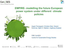 EMPIRE- modelling the future European power system under different