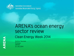 Clean Energy Week 2014 ocean energy sector review