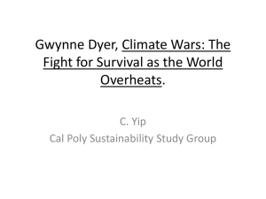 Gwynne Dyer, Climate Wars - Sustainability Book Club