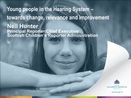 Young people in the Hearing System
