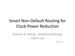 Smart Non-Default Routing for Clock Power Reduction