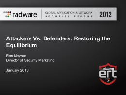 "presentation ""Attackers vs. Defenders"