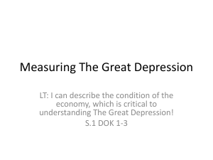 Measuring The Great Depression