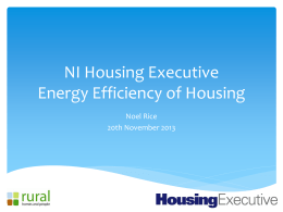 Energy Efficiency of Housing, Noel Rice, NIHE
