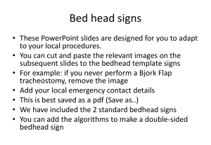Bed head signs