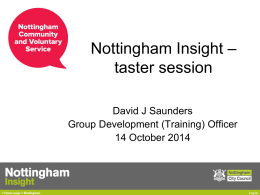 presentation - Nottingham Community and Voluntary Service