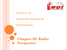 Faculty of Computer Science & Engineering Chapter 02. Radio