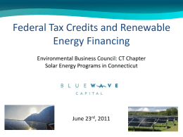 Federal Tax Credits - Environmental Business Council of New