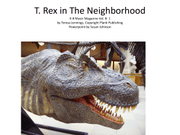 T.Rex in The Neighborhood - Bulletin Boards for the Music Classroom