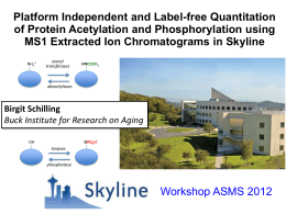 Skyline - MacCoss Lab Software