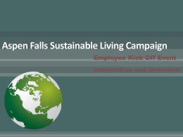 Aspen Falls Sustainable Living Campaign