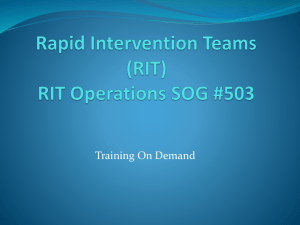 Rapid Intervention Teams (RIT)