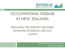 Occupational Disease in New Zealand