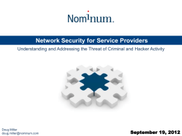Network Security for Service Providers