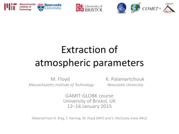 Extraction of atmospheric parameters
