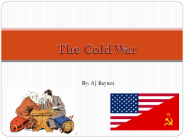 Cold War Power Point