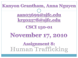 Human Trafficking Power Point