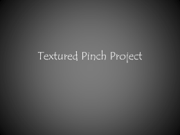 Textured Pinch Project