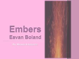 Embers Eavan Boland