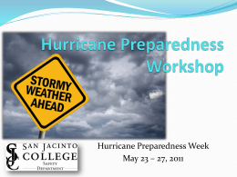 Hurricane Preparedness Training