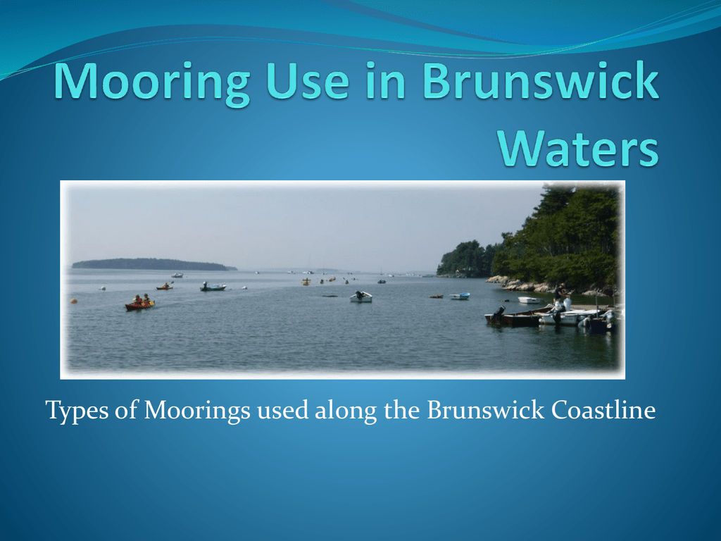 Mooring Use in Brunswick Waters