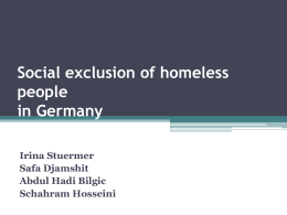 Social exclusion of homeless people in Germany
