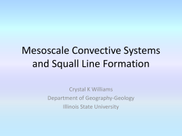 Mesoscale Convective Systems and Squall Lines, Formation