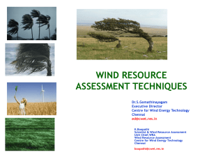 wind resource assessment techniques