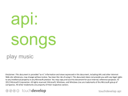 api songs - TouchDevelop